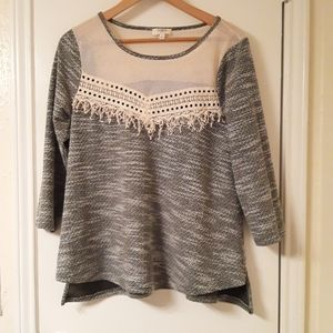 Umgee Sweater with Crochet
